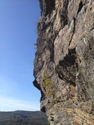 Rock Climbing Photo: Steel Curtain follows the face dead center of the ...
