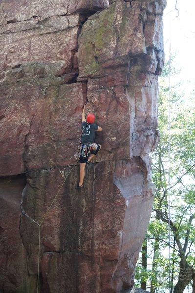 Rock Climbing Photo: Aaron cranks