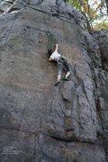 Rock Climbing Photo: Lauren makes a long reach
