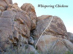 Rock Climbing Photo: Whispering Chickens