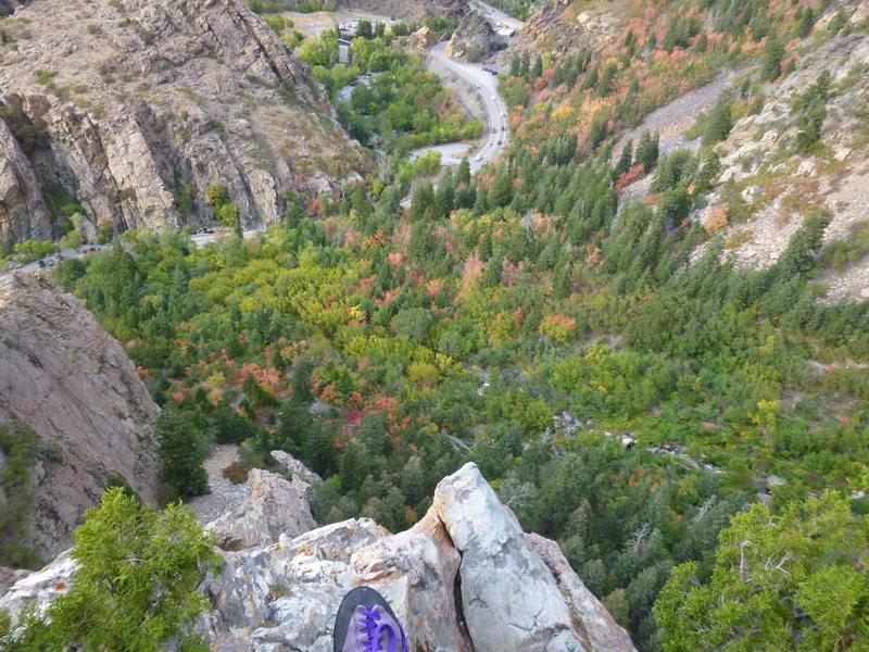 Rock Climbing Photo: the way down...