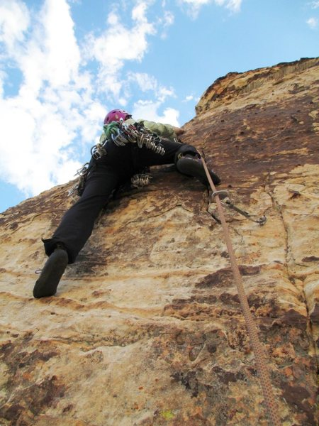 Lovin' climbing in the cooler temps in Red Rock.<br> <br> Taken 9/25/12