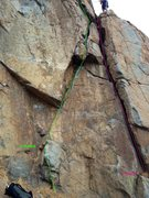 Rock Climbing Photo: Kathys Memorial and Back to Basics Topo