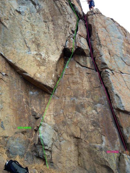 Rock Climbing Photo: Kathys Memorial and Back to Basics Topo