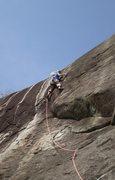 Rock Climbing Photo: P2's final hard sequence.