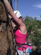 Rock Climbing Photo: My first outdoor ascent!