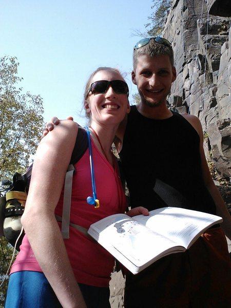 Getting read to climb at Taylor's Falls MN Strip!