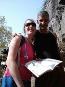 Rock Climbing Photo: Getting read to climb at Taylor's Falls MN Strip!