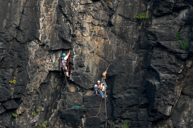 Rock Climbing Photo: John Kelbe and Dominic Albanese Starting pitch 2 D...