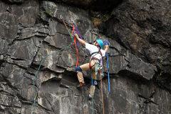 Rock Climbing Photo: John Kelbel starting pitch 3 Don Startzell photo