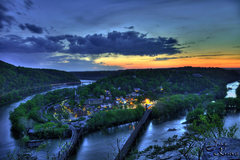 Rock Climbing Photo: Twilight at Harpers Ferry John Kelbel HDR Photo