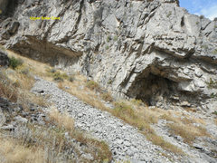 Rock Climbing Photo: upper and lower solar caves.  Park at First practi...