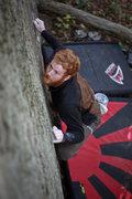 Rock Climbing Photo: Keller on the Stairway Slab.