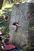 Rock Climbing Photo: Small holds, high feet. Mike getting it done on th...