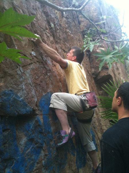 Rock Climbing Photo: G.McCay pulling hard!