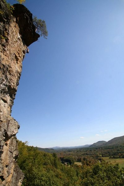 Rock Climbing Photo: the wide angle warps it a bit but the point is... ...