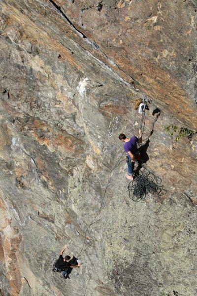 Rock Climbing Photo: jeff and jared, pitch 1