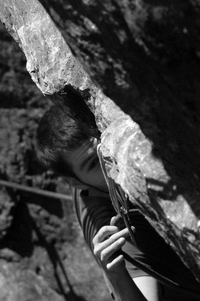 Rock Climbing Photo: peeking around the corner...