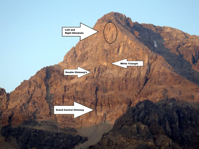 Rock Climbing Photo: Landmarks on the East Face