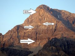 Rock Climbing Photo: Landmarks on the East Face