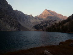 Rock Climbing Photo: East Face of Mount Idaho above Merriam Lake