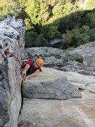 Rock Climbing Photo: Pierre finishing up White Corner