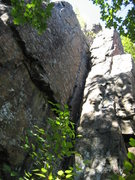 Rock Climbing Photo: First section of Lost Corner and Crossover