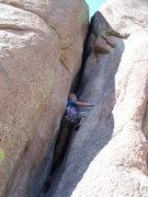 Rock Climbing Photo: Hideaway Chimney, Vedawoo.