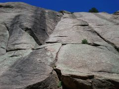 Rock Climbing Photo: Classic Dihedrals.  1st rope solo.