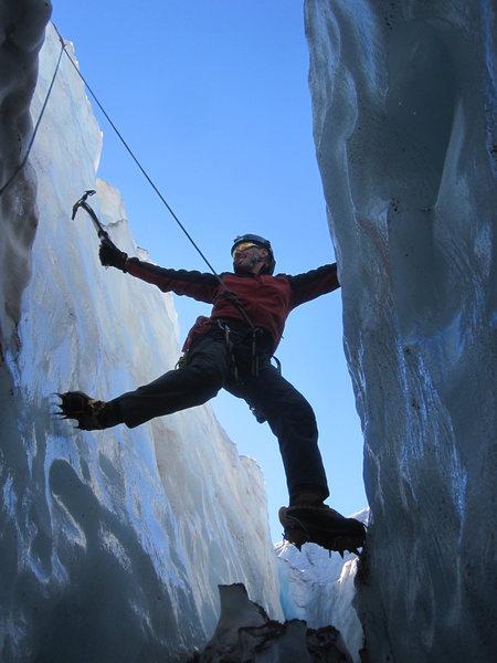 Rock Climbing Photo: my first ice climb!!!!