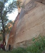 Rock Climbing Photo: Nearing the Top-Out on Skeletonic