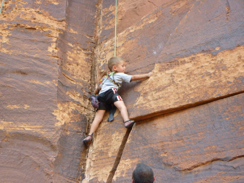 Rock Climbing Photo: kid climbing