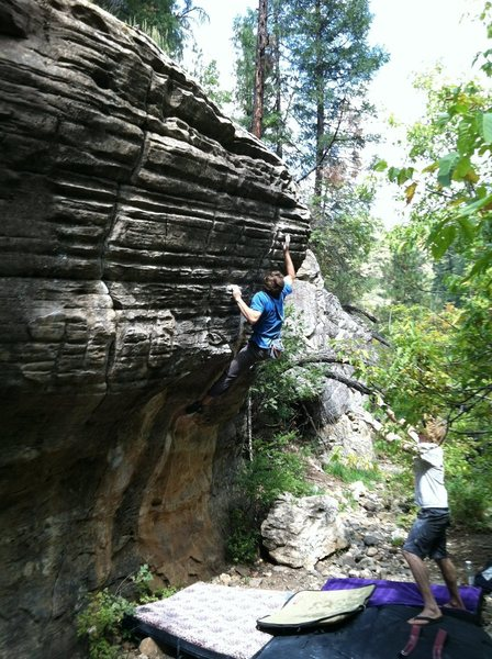 Rock Climbing Photo: J. Snyder cruxin'