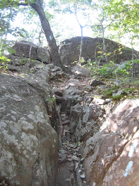 Rock Climbing Photo: Hiking north from Green Wall, the Metacomet trail ...