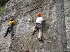 Rock Climbing Photo: Sam & Ben at Muir