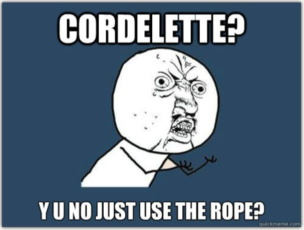 y u no just use the rope?