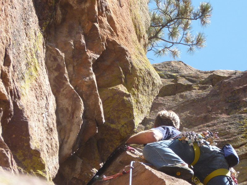Rock Climbing Photo: In the 5.8 handcrack (variation), 2nd pitch.