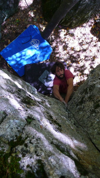 Rock Climbing Photo: What a good awkward start!