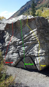 Rock Climbing Photo: The right half of the South Face of the Eastern-mo...