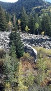 Rock Climbing Photo: The Eastern Warmup Boulder as it appears from the ...