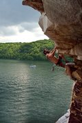 "Rock Climbing Photo: Pulling on the nice horizontals before the ""b..."