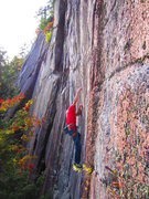 Rock Climbing Photo: 1st crux