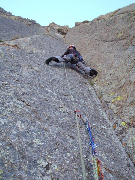 Rock Climbing Photo: Near the start of Soaring, September 2010 (2 pitch...