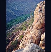 Rock Climbing Photo: My girlfriend Nicole Marcos TR'ing The Tower. 5.7+...