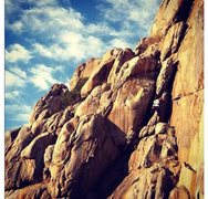 Rock Climbing Photo: My girlfriend Nicole Marcos TR'ing The Trauma. 5.6...