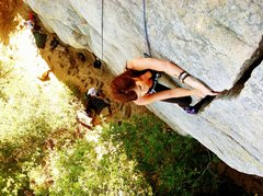 Rock Climbing Photo: Me climbing The Y-crack. Crack climb. 5.7 climb. I...