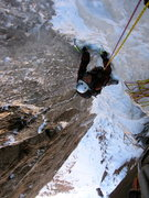 Rock Climbing Photo: Caught this is killer shape WI4+ M3+  We did maybe...