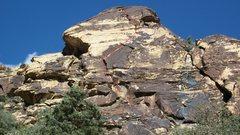 Rock Climbing Photo: Gold Digger and variation.