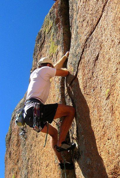 Rock Climbing Photo: Paul Heyliger flashing Short Fuse.