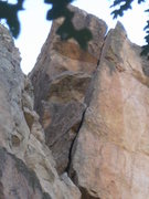 Rock Climbing Photo: Upper portion - after moving left.